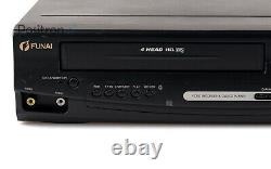 Funai D8A-M1000DB DVD Player VHS Video Recorder/Serviced 1 One Year Guarantee