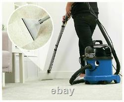Numatic Henry Wash HVW370 Cylinder Carpet Cleaner Blue Free 1 Year Guarantee