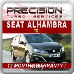 Seat Alhambra 1.9 Tdi Diesel Garretts Re-manufactured Turbo, 1 Year Guarantee