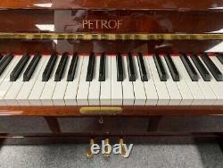 Petrof 115 Piano Droit, 17 Ans. Garantie De Cinq Ans 0% Option Finance