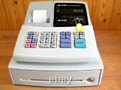 Sharp Xe A102w Cash Register Superbe Condition Entièrement Garantie Pour 1 An