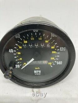 Vdo 140 Mph Speedometer Calibré À 760tpm Avec 1 Ans De Garantie