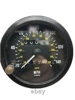 Vdo 140mph Speedometer Calibré À 1000tpm Avec Garantie 1 An